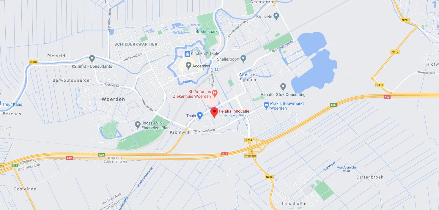 Pelatis - Google Maps van vestiging Woerden