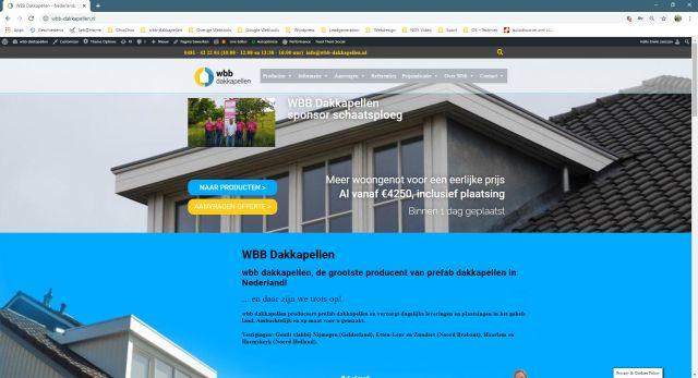 Pelatis - Website klant wbb-dakkapellen