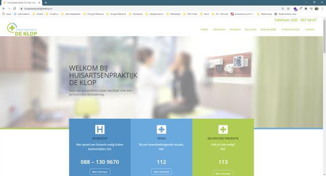 Pelatis Innovatie - website huisartsenpraktijk de klop
