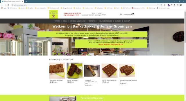 Pelatis Innovatie - website banketbakkerij Jullens - groningen