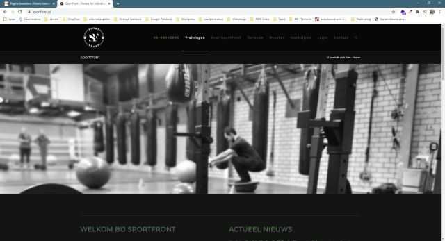 Pelatis Innovatie - website sportfront